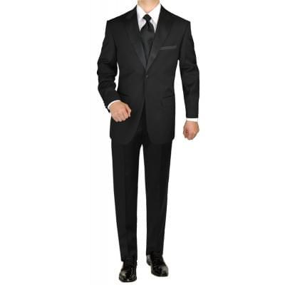 Mens Tuxedo Suit 1 Button Peak Lapel Adj - Image1