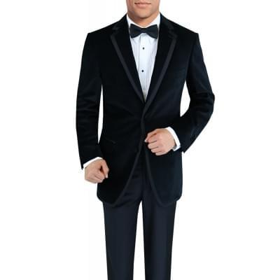 Mens Two Button Side-Vent Velvet Tuxedo - Image1