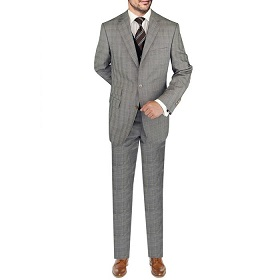Mens Suit Vested Modern Fit 3-Piece Blazer - Image1