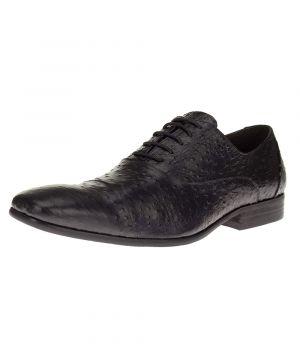 Black Lace-up Cap-toe Business Leather Shoes Z622-30