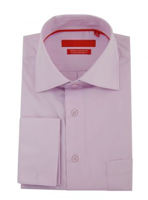Mens GV Executive Modern Spread Collar French Cuff Cotton Dress Shirt Purple by DTI DARYA TRADING