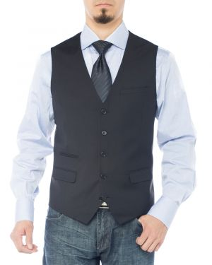 Mens Modern Fit Vest Dress Suits Waistcoat For Suit Tuxedo Black by Giorgio Napoli