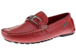 Rio Red Slip-on Loafer Grant Comfortable Leather Driving Shoe