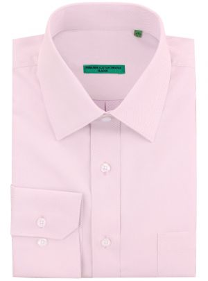 Mens BB Signature Classic Fit Pure Cotton Tone On Stripe Dress Shirt Lt Pink by DTI DARYA TRADING
