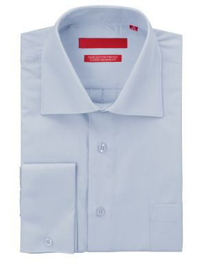Mens GV Executive Dress Shirt Pure Cotton Spread Collar French Cuff Light Blue by DTI DARYA TRADING