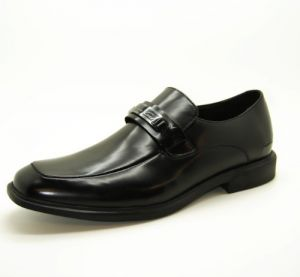 Black Slip On Leather Dress Shoes