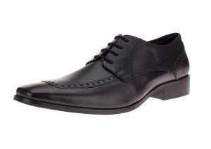 Black Lace-up Nico Oxford Leather Dress Shoe