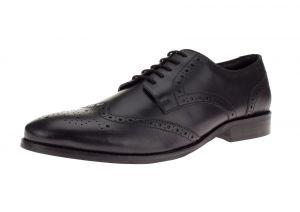 Black Lace-up Tyson Oxford Leather Dress Shoe