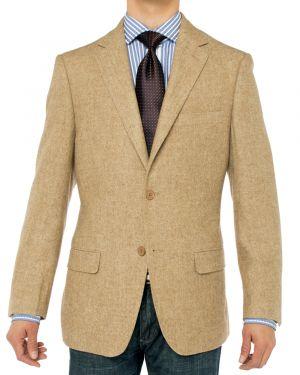 Camelhair Blazer Modern Fit Jacket Camel Herringbone by Luciano Natazzi