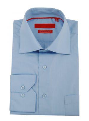 Mens GV Executive Modern Spread Collar Barrel Cuff Cotton Dress Shirt Medium Blue by DTI DARYA TRADING