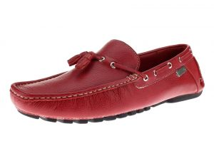 Mens Air Grant Driver Leather Shoes Tassel Driving Slip-on Loafer Red by Luciano Natazzi
