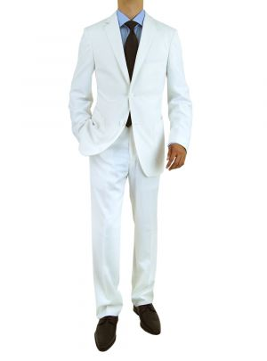 Modern Fit 2 Button White by Salvatore Exte