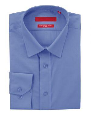 Mens GV Executive Dress Shirt Slim Fit Pure Cotton Barrel Cuff Blue by DTI DARYA TRADING
