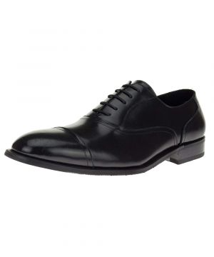 Mens Designer Fashion Oxford Leather Shoes Lace-up Z2088 Black by Darya Trading