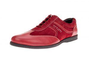 Red Fashion Sneaker Go Kart Comfort Leather Dress Shoe