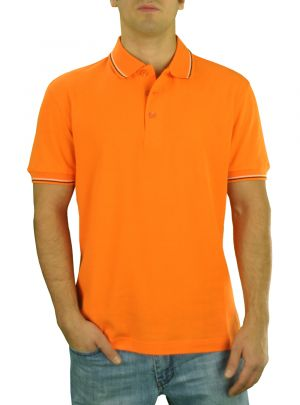 Mens DTI Pique Polo Sport Shirt Solid Short Sleeve Cotton Royal Classic Fit Orange by Darya Trading