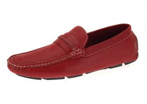 Mens Shoe Woodley Slip-On Loafer Red by Salvatore Exte