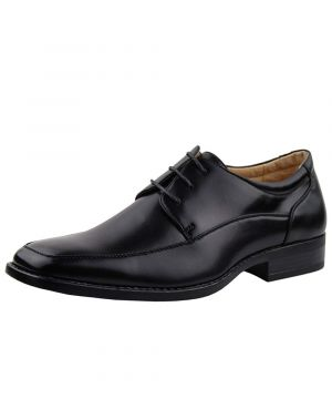 Mens DTI Modern Dress Shoes Paris Faux Vegan Leather Lace-Up TR5808-7 Black by Darya Trading
