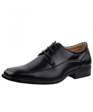 Black Lace-up Business Faux Vegan Leather Dress Shoes TR5808-7