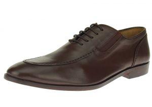 Dark Brown Slip-on Comfort Full Grain Leather Dress Shoes SL306
