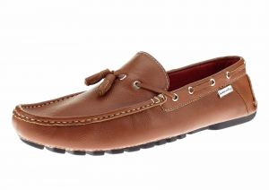 Mens Air Grant Driver Leather Shoes Tassel Driving Slip-on Loafer Tan by Luciano Natazzi