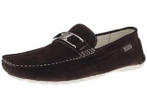 Mens Air Grant Penny Suede Leather Shoes Original Slip-on Driving Loafer Brown by Luciano Natazzi