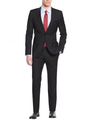 Modern Fit Two Button Working Holes Black by Nicoletti