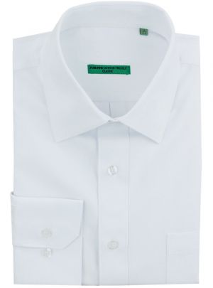 Mens BB Signature Classic Fit Tone On Diamond Pure Cotton Dress Shirt White by DTI DARYA TRADING