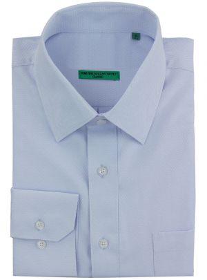 Mens BB Signature Classic Fit Tone On Diamond Pure Cotton Dress Shirt Lt Blue by DTI DARYA TRADING