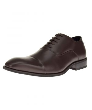 Mens Designer Leather Oxford Shoes Park Avenue Dress Lace-up Cap-toe Z3tc Brown by Darya Trading