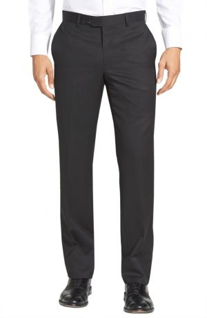 Mens GV Executive Italian Dress Pants Wool Comfort Modern Fit Flat Front Charcoal by DTI DARYA TRADING
