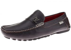 Mens Air Grant Canoe Leather Shoes Original Slip-on Driving Loafer Brown by Luciano Natazzi
