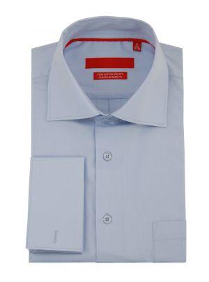 Mens GV Executive Modern Spread Collar French Cuff Cotton Dress Shirt Light Blue by DTI DARYA TRADING