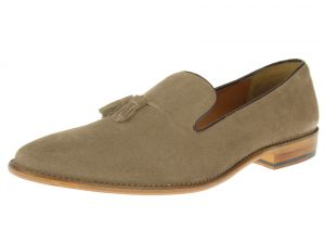 Beige Sand Slip-on Suede Comfort Leather Dress Shoes SL307