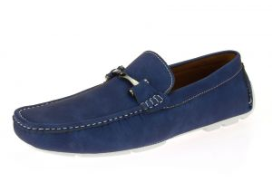 Mens Shoe Monaco Slip-on Loafer Navy by Salvatore Exte