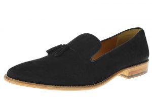 Black Slip-on Suede Comfort Leather Dress Shoes SL307