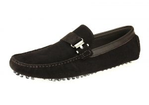 Mens Suede Leather Driving Shoe Michael Slip-on Loafer Coffee by Salvatore Exte