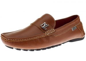 Mens Air Grant Canoe Leather Shoes Original Slip-on Driving Loafer Tan by Luciano Natazzi
