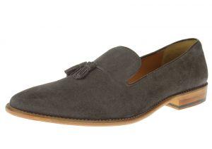 Dark Gray Slip-on Suede Comfort Leather Dress Shoes SL307