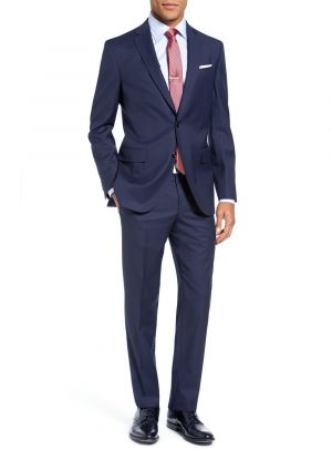 Modern Fit 2 Piece Two Button Narrow Blue Stripe by Luciano Natazzi