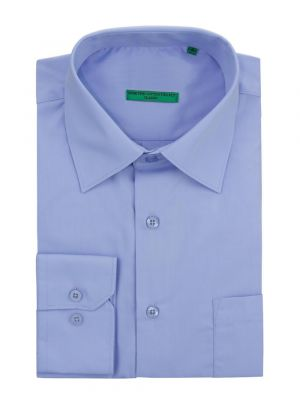Mens BB Signature Modern Classic Fit 2 Ply Pure Cotton Solid Dress Shirt Light Blue by DTI DARYA TRADING