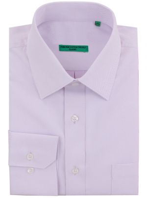 Mens BB Signature Classic Fit Pure Cotton Tone On Stripe Dress Shirt Lavender by DTI DARYA TRADING