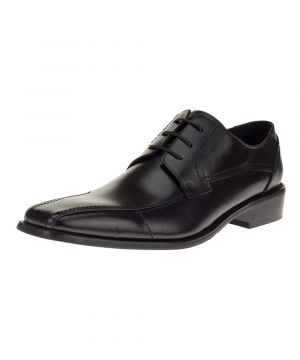Mens Designer Fashion Oxford Leather Shoes Modern Lace-up Z6055 Black by Darya Trading