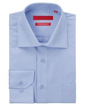 Mens GV Executive Dress Shirt Pure Cotton Spread Collar Barrel Cuff Medium Blue by DTI DARYA TRADING
