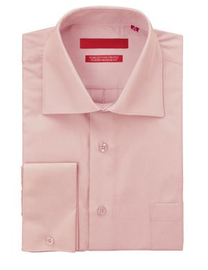 Mens GV Executive Dress Shirt Pure Cotton Spread Collar French Cuff Light Pink by DTI DARYA TRADING