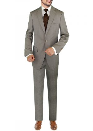 BB Signature Italian 3 Piece Wool Set Jacket Pant Extra Trousers Light Brown by DTI DARYA TRADING