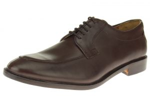 Dark Brown Lace-up Comfort Full Grain Leather Dress Shoes SL305