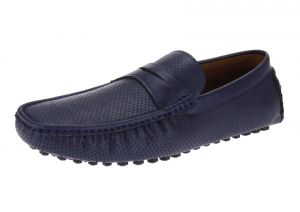 Navy Slip-on Loafer Comfortable Faux Leather Shoe