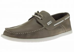 Mens Leather Yacht Club Original 2 Eye Boat Shoe Oily Grey by Luciano Natazzi