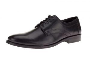 Black Lace-up Madison Oxford Leather Dress Shoe